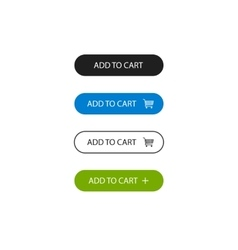 Add to cart buttons outline style vector image