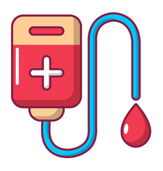 blood bag icon cartoon style vector image vector image