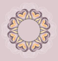 Circular floral ornament vector