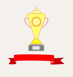 cup and ribbon reward vector image