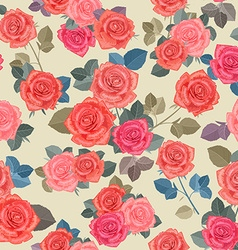 fashion seamless texture with bouquets of roses vector image