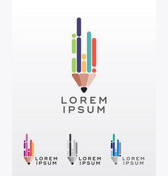 flat style pencil icon or logo design element vector image vector image