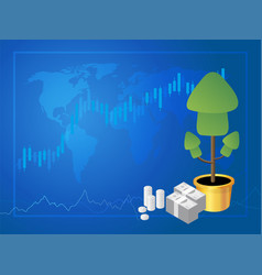 forex marke trading vector image vector image