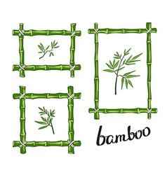 Green bamboo frames vector image vector image