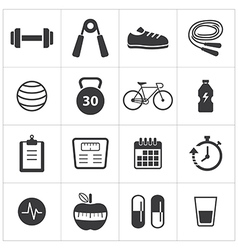 healthy and fitness icon vector image vector image