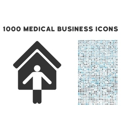 House owner wellcome icon with 1000 medical vector