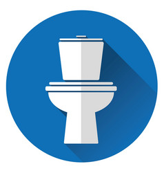 Icon toilet bowl vector