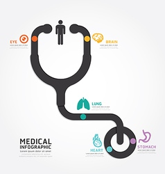 infographics medical design stethoscope diagram vector image