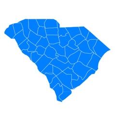 Map of South Carolina vector image