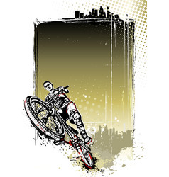 mountain bike poster vector image