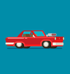 old car flat styled vector image vector image