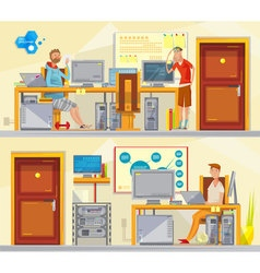 Software engineering workplaces set vector