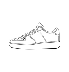 sport clothing white footwear fashion isolated vector image