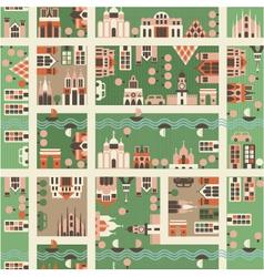 town birdseye vector image