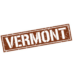 Vermont brown square stamp vector