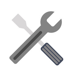 wrench and screwdriver icon image vector image vector image