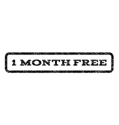 1 month free watermark stamp vector