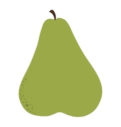 Whole pear icon vector
