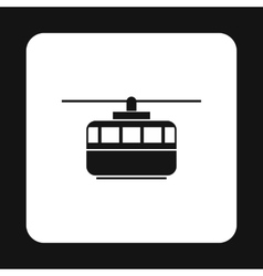 Funicular icon simple style vector