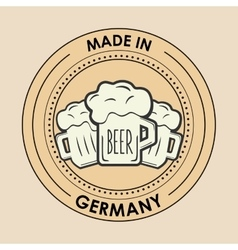 Germany oktoberfest beer emblem image vector