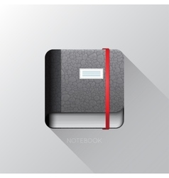 Realistic notebook icon vector image