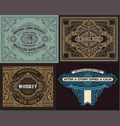 Set of old cards vector