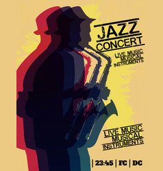 Jazz blues music concert poster background vector