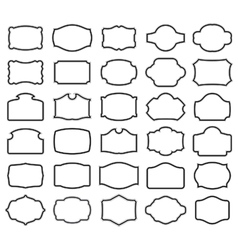 Thirty blank labels vector
