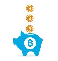 saving bitcoin vector image