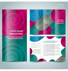 Brochure design template spiral vector