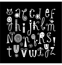 English alphabet black background vector