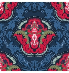 Blue and red indian seamless pattern vector