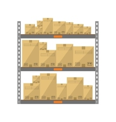 Boxes on the shelves vector