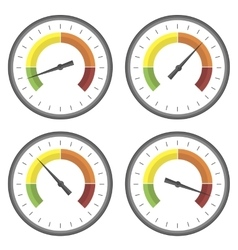 Set of manometer icons vector