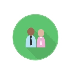 Flat icon with man employees silhouette vector