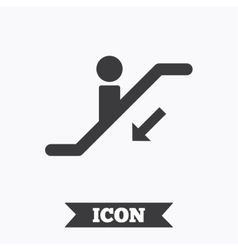 Escalator staircase icon elevator moving stair vector