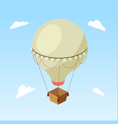 air balloon isometric vector image vector image