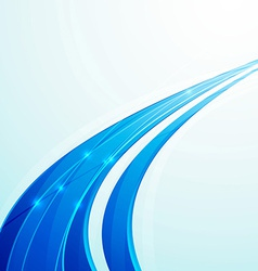Blue speed rapid swoosh line business template vector image