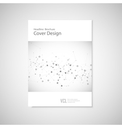 Brochure cover template for connect network vector
