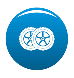 Car tyre icon blue vector