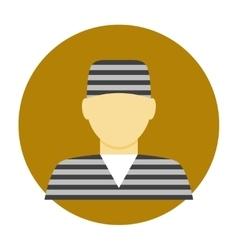 Criminal avatar flat icon vector image vector image
