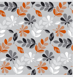 decorative fall leaves seamless pattern vector image vector image