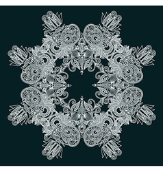 decorative snowflake vector image vector image