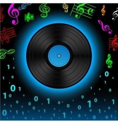 Digital record vector image