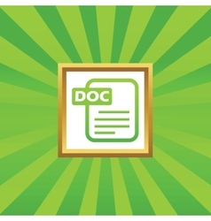 DOC file picture icon vector image