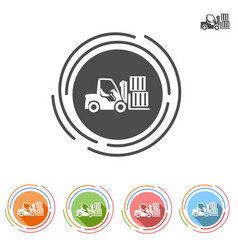 Forklifts icon in a flat style vector