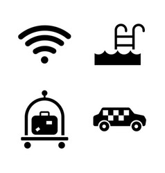 hotel service simple related icons vector image vector image