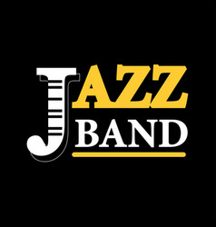 Jazz concert logo label with text isolated on vector