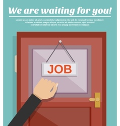 Job search concept vector