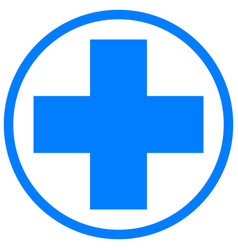 medical cross health and medicine vector image